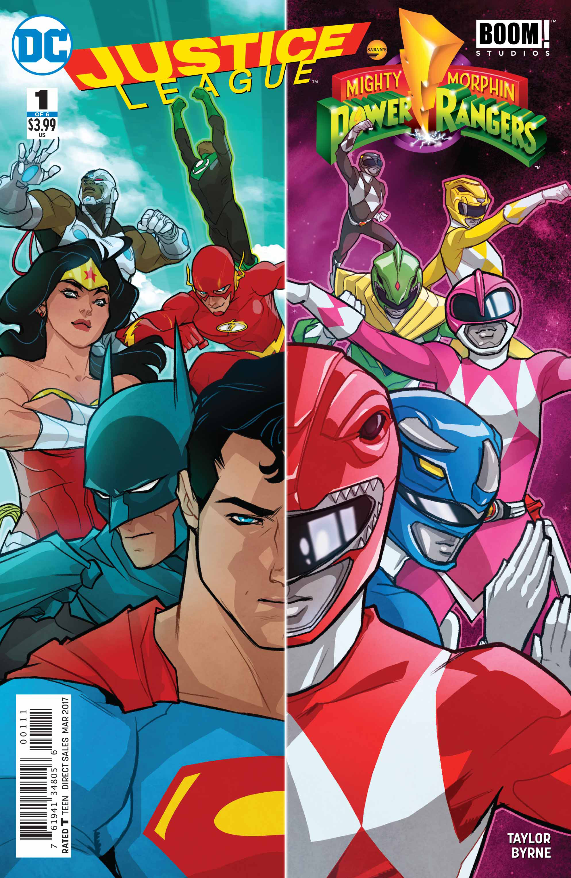 JUSTICE LEAGUE POWER RANGERS #1