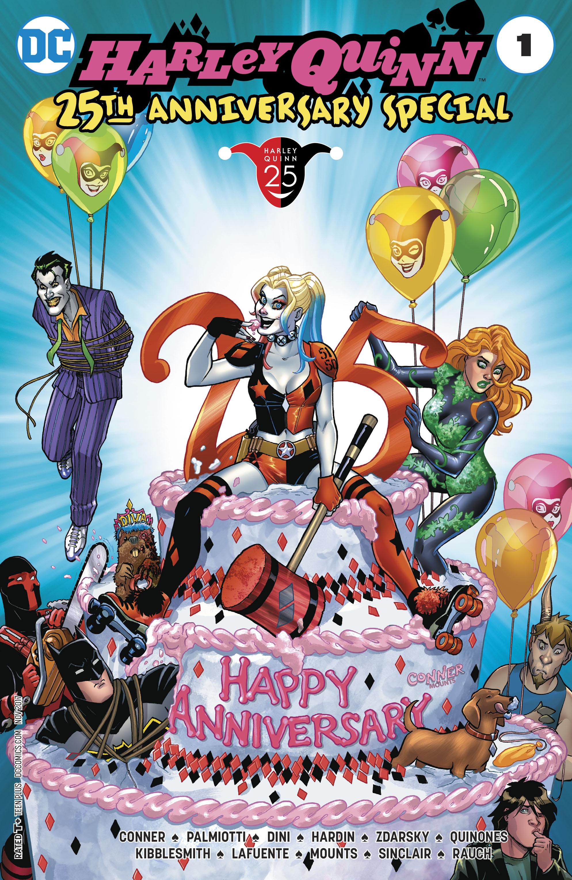 jul170413 harley quinn 25th anniversary special 1 free comic